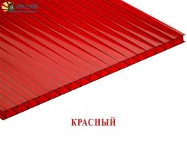 Красный сотовый поликарбонат