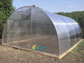 Фермерская теплица из поликарбоната шириной 5 метров